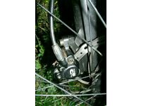 Tektro auriga comp hydraulic front disc brake, lever hose, caliper, fittings and 180mm rotor