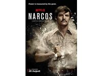 Narcos with Murphy and Pena