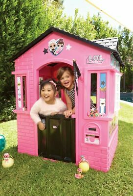 Playhouse For Girls House Play Kids Backyard Outdoor Indoor Toddler Cottage Pink ()
