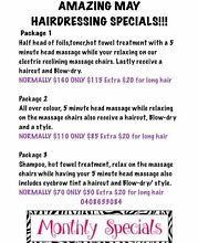 SAVVY HAIR STUDIO MAY HAIRDRESSING SPECIALS!!! Port Macquarie 2444 Port Macquarie City Preview