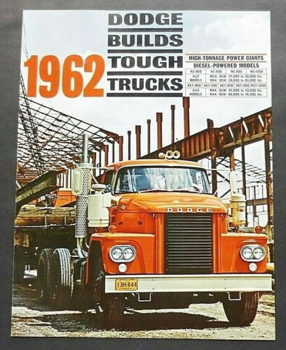 "ORIGINAL 1962 DODGE HEAVY DUTY DIESEL TRUCKS BROCHURE ~ 12 PAGES ~ 8.5"" X 11"""