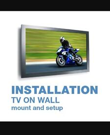 Tv wall mounting bracket floating stand