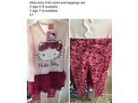 Hello kitty frilly top amd leggings set