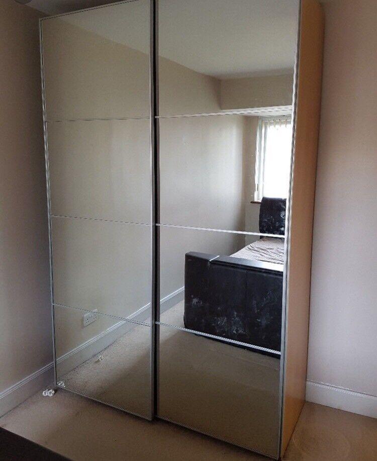 Ikea Pax Wardrobe Auli Mirror Sliding Doors In Kinross Perth And