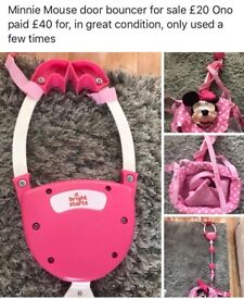 Sit me up cosy and Minnie Mouse bouncer