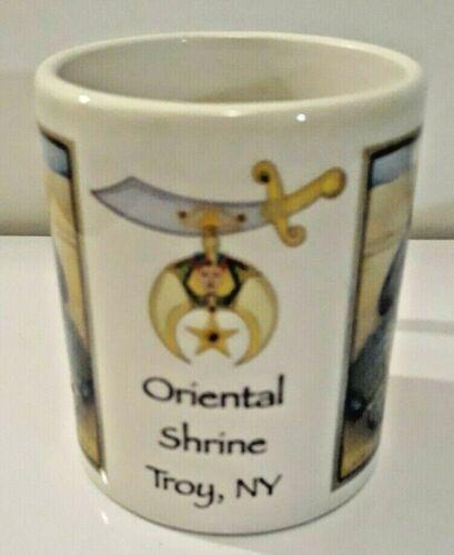 Vintage ORIENTAL SHRINE TROY NY Coffee Mug Cup Indian Woman Made in USA EUC