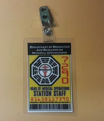 Lost TV Series ID Badge - Head of Medical Operations staff cosplay prop costume
