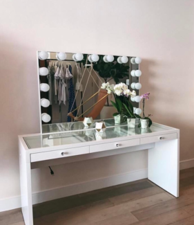 Hollywood mirror lights gumtree australia free local classifieds see through table hollywood makeup vanity mirror with lights mozeypictures Images