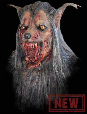 Deluxe Werewolf Mask (Bloody Werewolf Monster Ghoulish DELUXE ADULT LATEX BROWN WOLF)