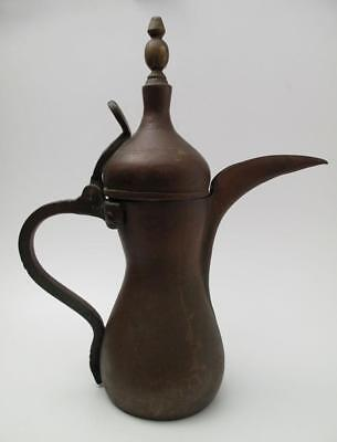 ANTIQUE ISLAMIC DALLAH COFFEE POT ARABIC COPPER & BRASS RARE LARGE