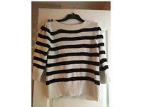 Next striped chunky knit jumper size 16