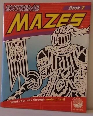 Extreme Mazes Book 2 Mindware Adult Activity Book Coloring