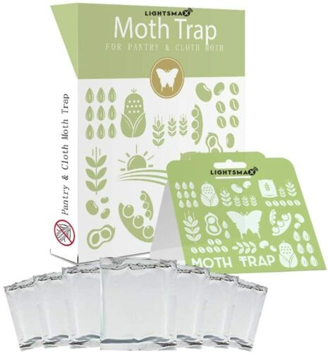LIGHTSMAX Clothes Moth Traps 6 Pack No insecticides Child and Pet Safe