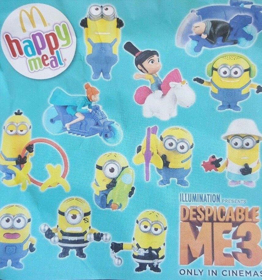 MCDONALDS HAPPY Meal Toy 2017 DESPICABLE ME 3 Minions ...