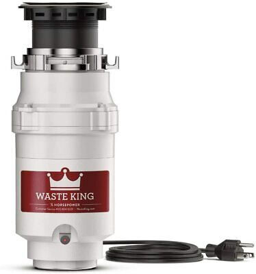 Garbage Disposal 1/2 HP Continuous Feed Septic Friendly Kitchen Sink Trash Sink