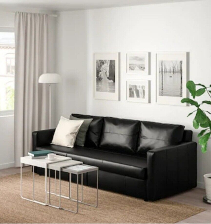 Marvelous Ikea Frigeten Sofa Bed Leather Black In Bloomfield Belfast Gumtree Onthecornerstone Fun Painted Chair Ideas Images Onthecornerstoneorg