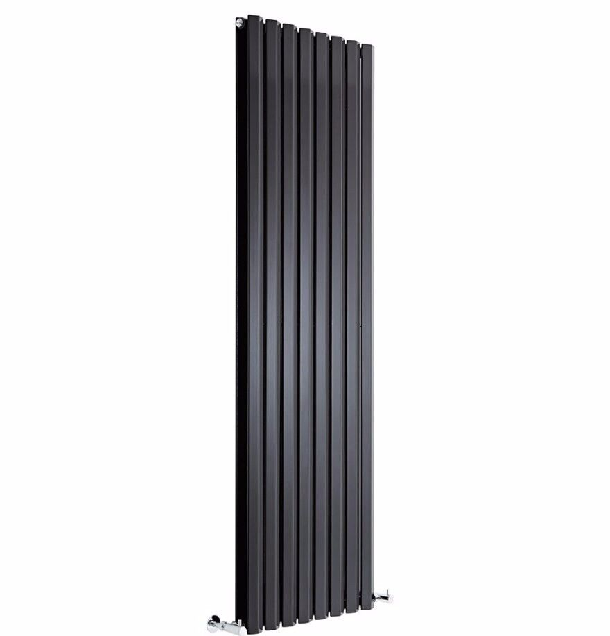 BLACK DIAMOND PANEL VERTICAL DOUBLE PANEL DESIGNER RADIATOR 1600 X 560MM