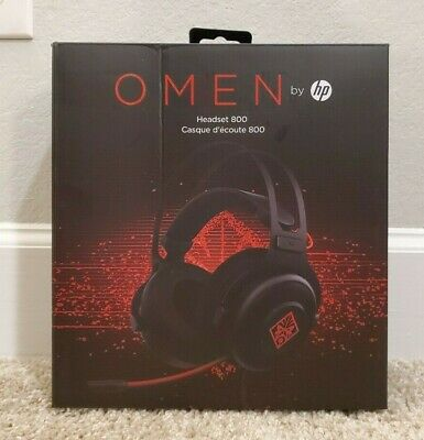 HP OMEN Wired PC Gaming Headset 800 with Microphone | Black & Red | New