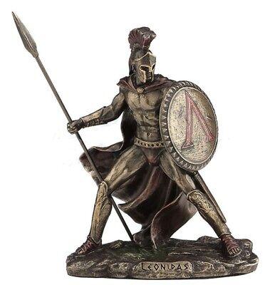 """4.25"""" Leonidas Greek Warrior King Statue Sculpture Figurine Spartan Decor"""