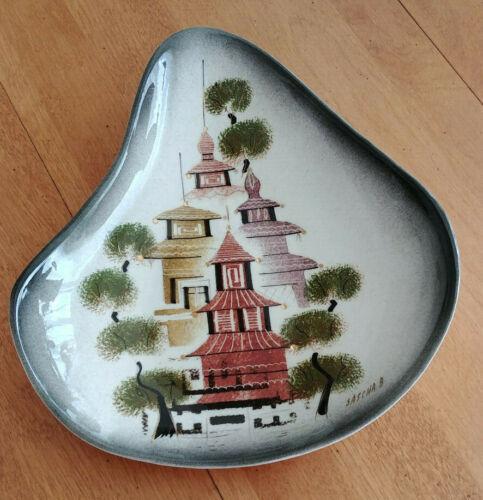 Sasha Brastoff Mid Century Ceramic Dish F40