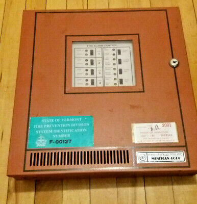 Fire-lite Miniscan Ms-4024 Fire Alarm Control Panel With Housing Instructions
