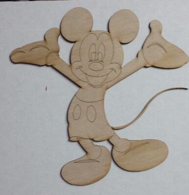 Mickey Mouse unfinished wood cutout - Mickey Mouse Cut Out
