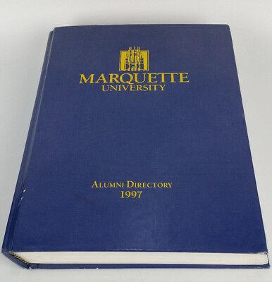 1997 Marquette University Alumni Association Members Directory Golden Eagles Marquette University Alumni