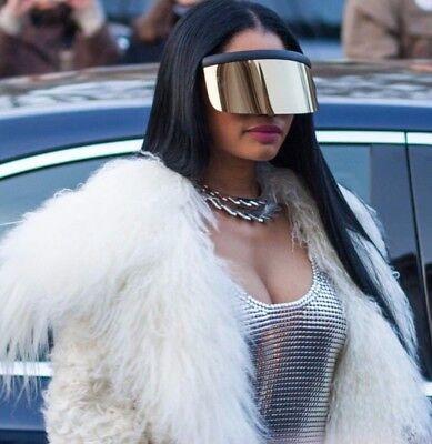 Oversized Visor Shield Goggle Mono Futuristic Sunglasses Shades Frames Flat (Futuristic Goggles)
