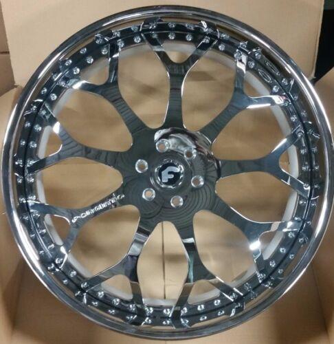 """28"""" Forgiato Drea 3-piece Chrome Wheels 6x139.7  Escalade Yukon Suburban Qx80"""