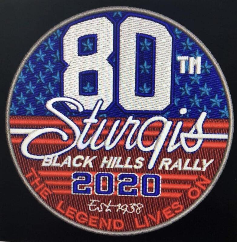 "STURGIS 2020 Motorcycle Rally 80th Patch 3.5"" Iron On Biker Hat Jacket Bike Vest"
