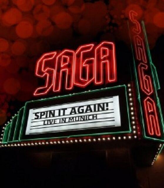 SAGA - SPIN IT AGAIN-LIVE IN MUNICH  BLU-RAY  20 TRACKS CLASSIC ROCK & POP  NEU