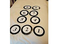 Wedding table numbers (single vinyl records)
