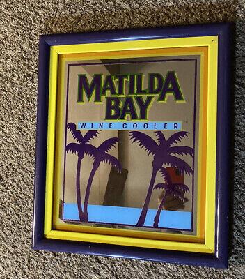 "Vintage Matilda Bay Sign Mirror Bar Wine Cooler Miller Budweiser Beer 18""x15"""