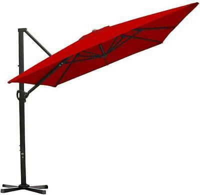 Abba Patio 8 X 10Ft Offset Patio Umbrella Rectangular Cantilever Outdoor Hanging