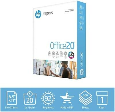 Hp Printer Paper 8.5x11 Office 20 Copy Print Letter Ream 500 Sheets172160r