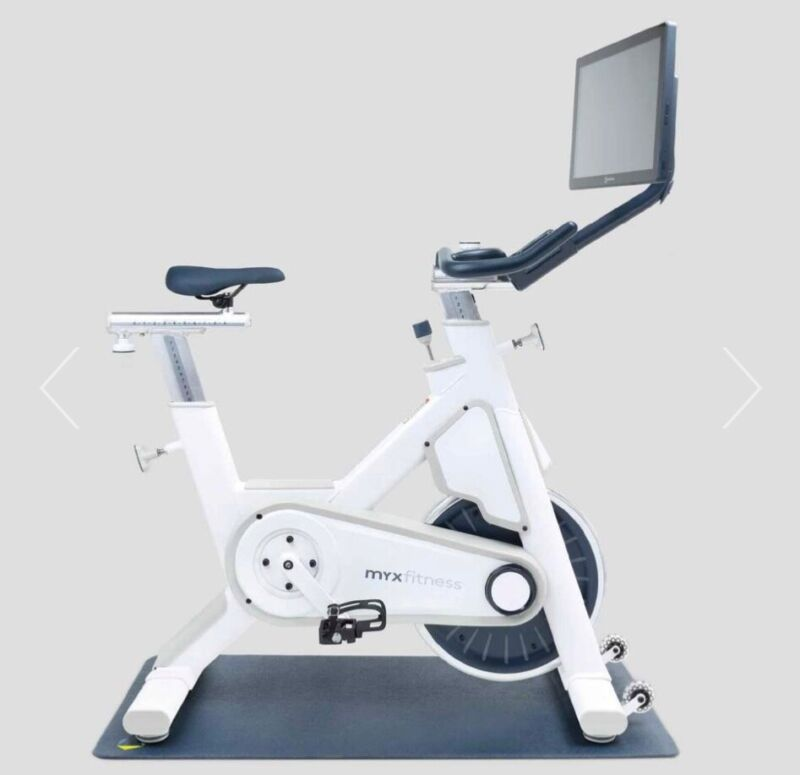 Great condition barely used white myx fitness bike