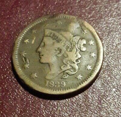 1839 1C BN Braided Hair Cent