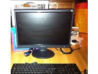 PC Monitor with Keyboard & Camera