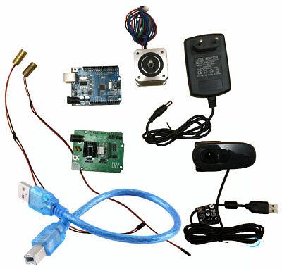 Ciclop 3d scanner electronics kit, motor, lasers, UNO controller, ZUM Scan board