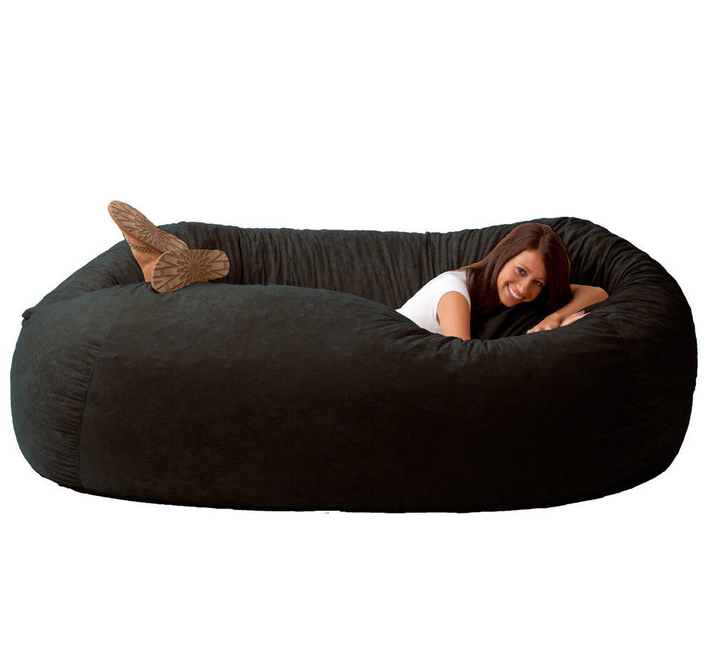 Giant bean bag chairs for adults - Childrens Bean Bag Chairs Black Bean Bag Chair For Adults Teens Large Giant Dorm Furniture Kids Rooms