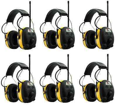 6 Peltor Worktunes Digital Am Fm Mp3 Radio Headphones Hearing Ear Protection