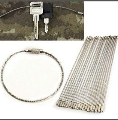 10 × Schlüsselring, Befestigung, kette ring, Dratseil Outdoor Jagd Angeln