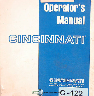 Cincinnati 2 H 12 Century Shear Operations Maintenance Schematics Manual 1976
