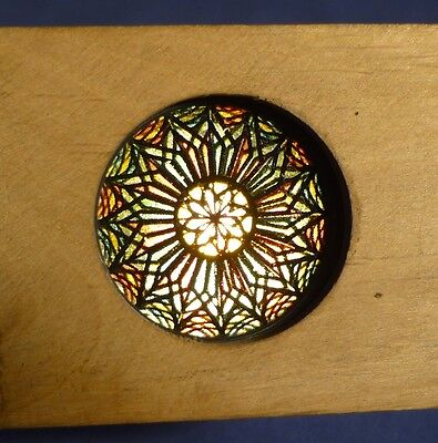 Laterna Magica bewegliches Dia Bild Holz Rahmen Kaleidoskop um 1910 A172