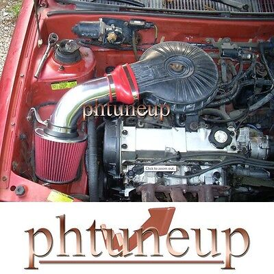 Red 1991-1997 Chevy Geo Metro 1.0 1.0l 1.3 1.3l Lsi Xfi Air Intake Kit + Filter
