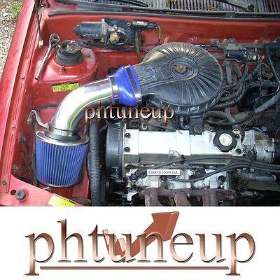 Blue 1991-1997 Chevy Geo Metro 1.0 1.0l 1.3 1.3l Lsi Xfi Air Intake Kit + Filter