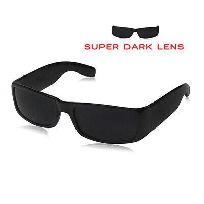 Large Mens Square Sunglasses Super Dark Black OG Loc Bad Boy Gangsta (Super Sunglasses For Men)