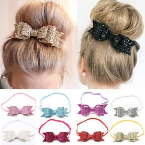 Cute Baby Girls Flower Hair Accessories Hairband Bow Elastic Band Headband New