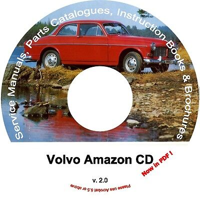 Volvo Amazon Parts & Service Manual Cd, Catalogs&extra