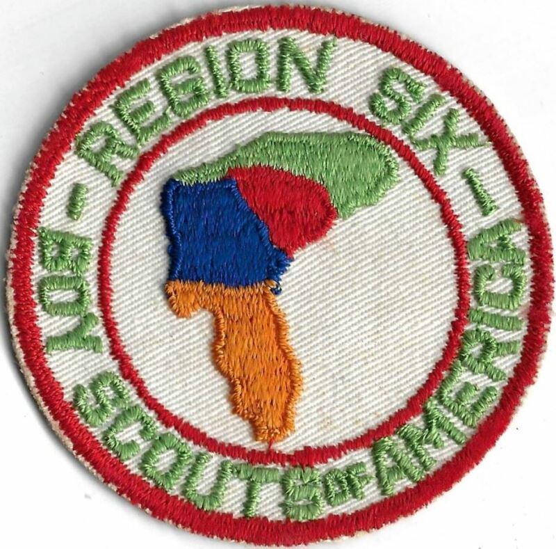 Region Six Boy Scouts Of America Twill Original RED Bdr. [MX-11545]